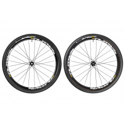 "Roues MAVIC CROSSRIDE Tubeless 29"" Axe Av. 15 mm - Ar. 12 x 142 mm + Pneus Impulse 2.10 (paire)"